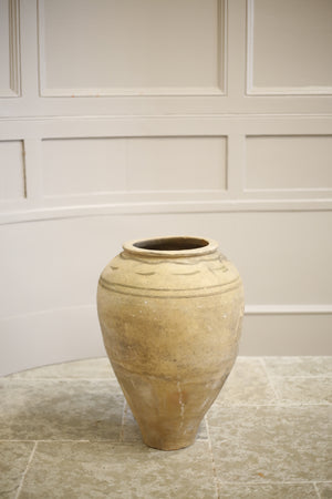 Early 20th century Turkish olive pot- Pale lined