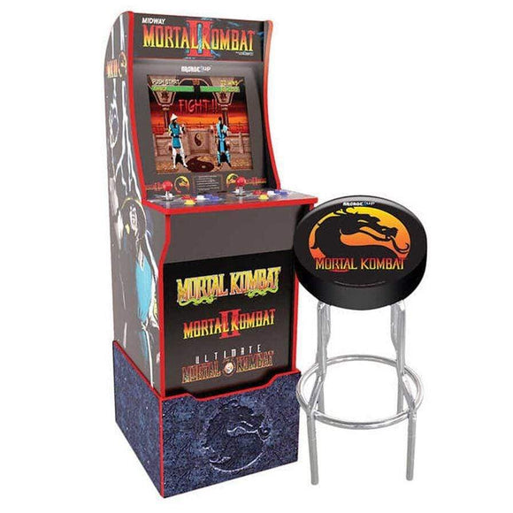 Arcade 1UP Gaming ARCADE 1UP- Arcade Mortal Kombat with Light-up Marquee, stool and Riser