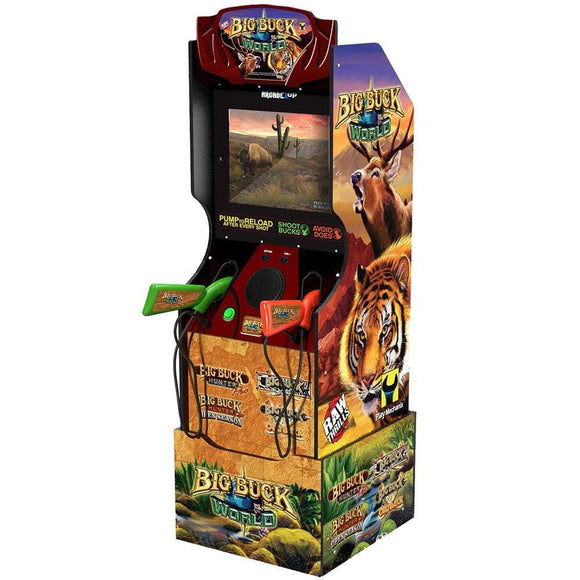 Arcade 1UP Gaming Big Buck Hunter® Arcade Cabinet with matching riser