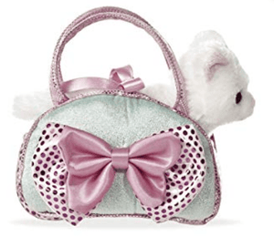 Aurora Toy Fancy Pal Cat Icy Blue WITH/Bow 8In