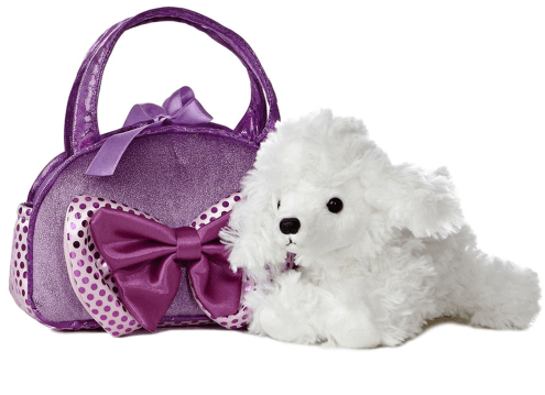 Aurora Toy Fancy Pal Poodle Purple W/Bow 8In