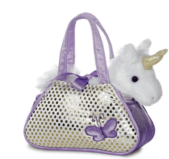 Aurora Toy Fancy Pal Unicorn Purple 8In