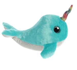 Aurora Toy Sparkle Tales Coral Narwhal 7In