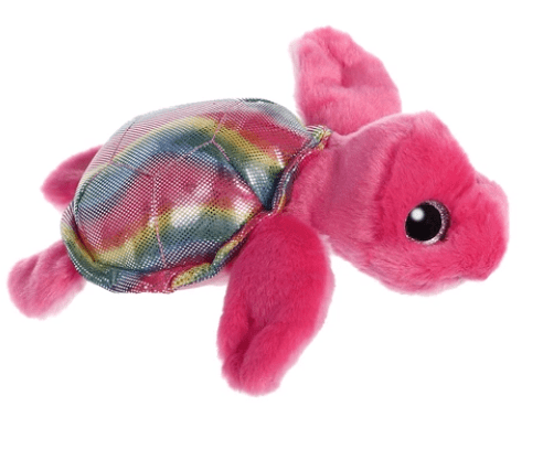 Aurora Toy Sparkle Tales Oceana Hot Pink Turtle 7In
