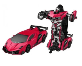 Autobot Jaki Toys Autobot Jaki 2.4GHz R/C transformable Robot Car --- Red