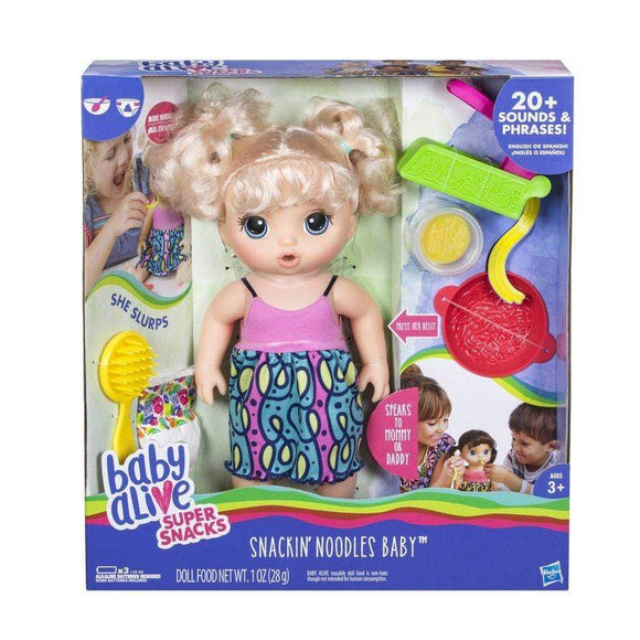 Baby Alive toys Super Snacks Snackin' Noodles Blonde Doll