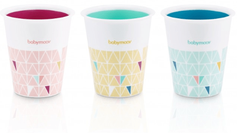 BabyMoov Babies Set of 3 multicolor cups