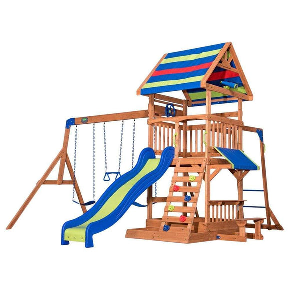 Backyard Discovery Outdoor Backyard Discovery - Beach Front Wooden Swing Set