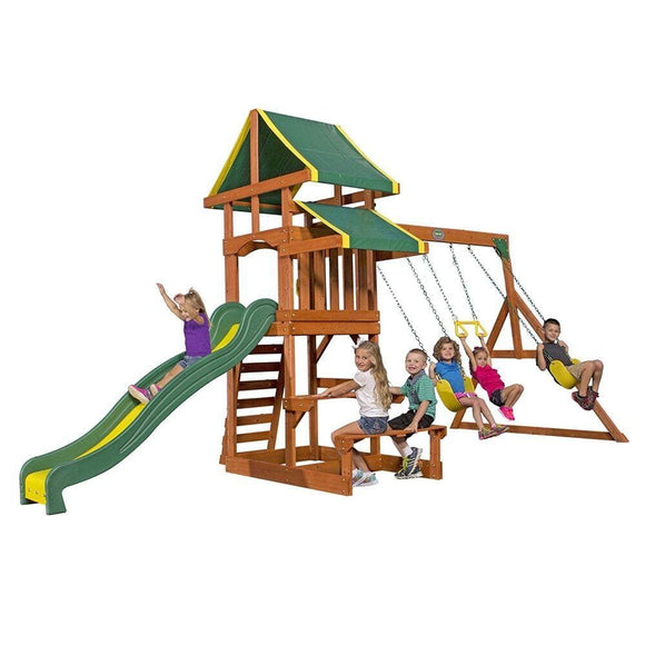 Backyard Discovery Outdoor Backyard Discovery Tucson Wooden Swing Set