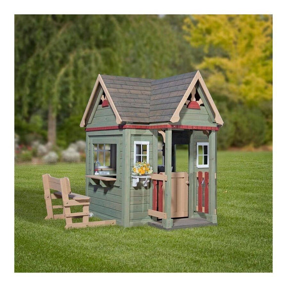 Backyard Discovery Toys Victorian Inn Wooden Playhouse