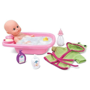 Bambolina Toys Bambolina Playtime Bathbaby Doll With Bathtub & Bath Accessories
