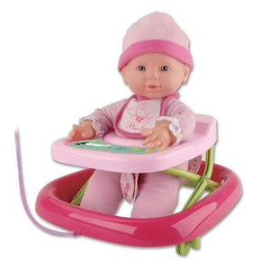 Bambolina toys Playtime Baby Doll With Baby Walker (33 cm)