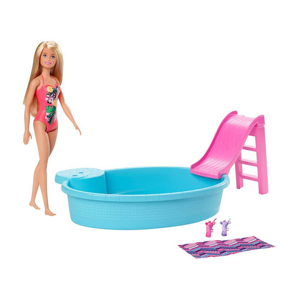 Barbie Toys Barbie® Pool with Doll - Blonde