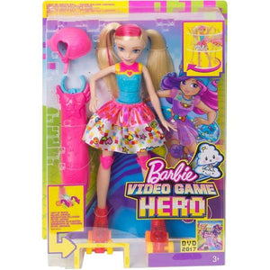 Barbie toys Barbie Video Game Hero Light-Up Skates Doll
