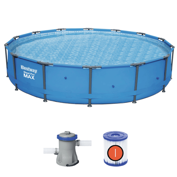 Bestway Ground Pool Bestway Steel Pro Max Pool Set (4.27m x 84cm) (14′ x 33″)