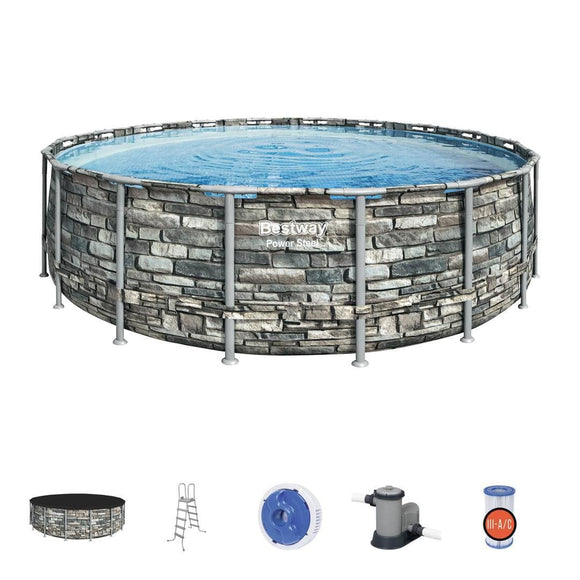 Bestway Outdoor Bestway Power Steel Pool Set (549 x 132 cm) 6.10M