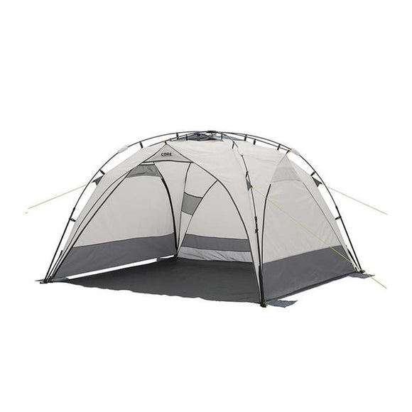 Core Equipment Outdoor CORE EQUIPMENT 8x8 Instant Sport Shade - Grey/Silver | H20 Block Fabric Technology | 68D Polyester