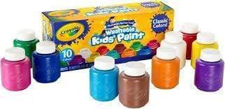Crayola School 10 WASHABLE PAINT BOTTLES