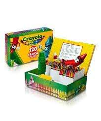 Crayola School 120 ct Crayon CIGAR BOX