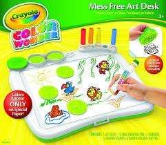 Crayola School Color Wonder Art Desk w/Stamper