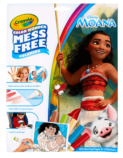 Crayola School COLOR WONDER MOANA