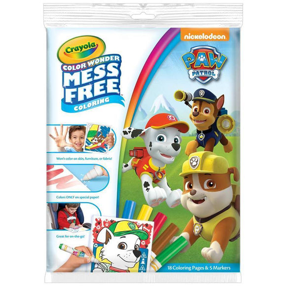 Crayola School COLOR WONDER    OVERWRAP PAW PATROL