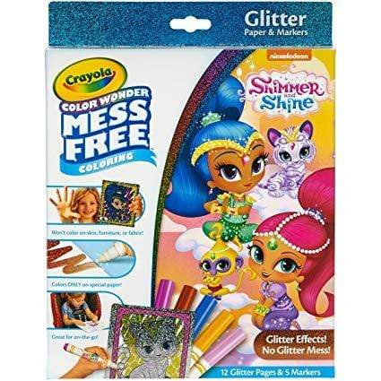 Crayola School Color Wonder Shimmer & Shine Glitter Set
