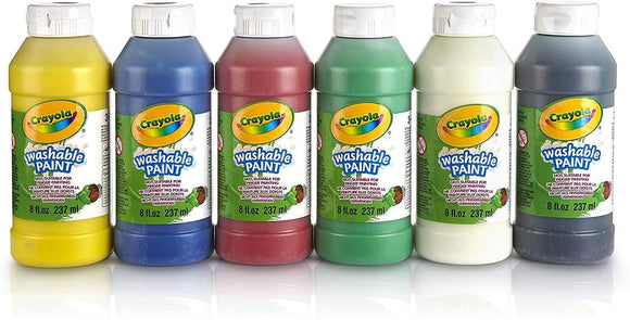Crayola School Crayola 6 Washable Paint Bottles