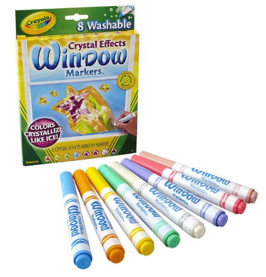 Crayola School Crayola - 8 ct. Washable Crystal Effects Window Markers