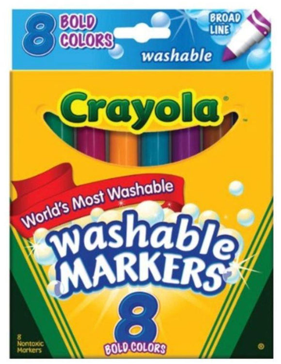 Crayola School Crayola 8-Piece Broad Line Washable Markers Set