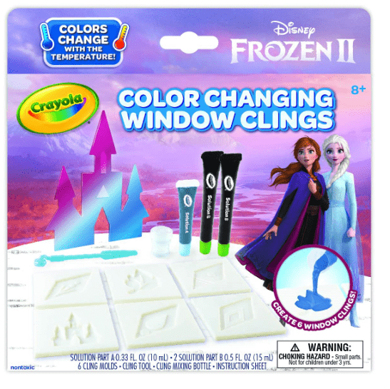 Crayola School Frozen 2 -Snowflake Window Clings