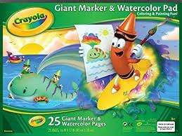 Crayola School Giant Marker/Watercolor Pad
