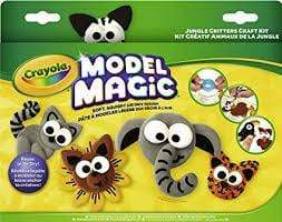 Crayola School MODEL MAGIC-JUNGLE CRITTERS CRAFT  KIT