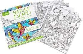 Crayola School Nature Escapes Coloring Books