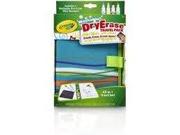 Crayola Toys Dry-Erase Travel Pack w/Dry-Erase Pip-Squeaks Markers