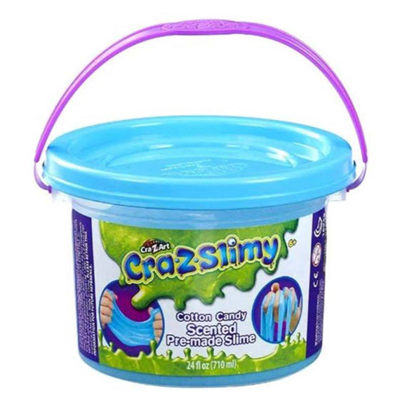 CraZSlimy Toys CraZslimy Scented Premade Tub 24 oz Cotton Candy