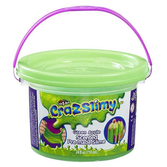 CraZSlimy Toys CraZslimy Scented Premade Tub 24 oz Green Apple