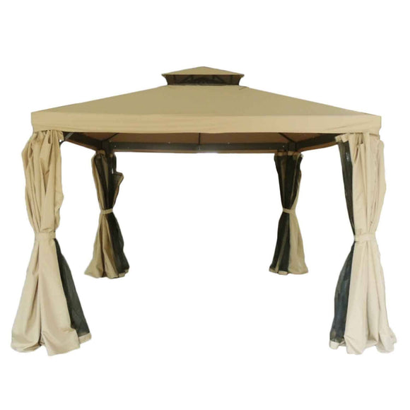 Creative Outdoor Creative Metal Outdoor Patio Gazebo-Beige