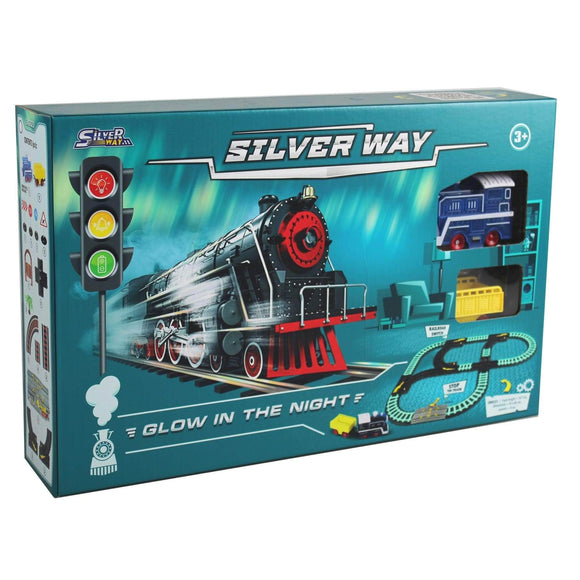 D Power Toys D Power Silver Way Glow in the Night Train Playset