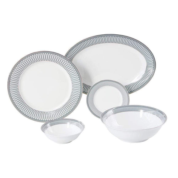 Danube Home Home & Kitchen Danube Home Lucerne 20 Pcs Dinner Set Round (DB2004)