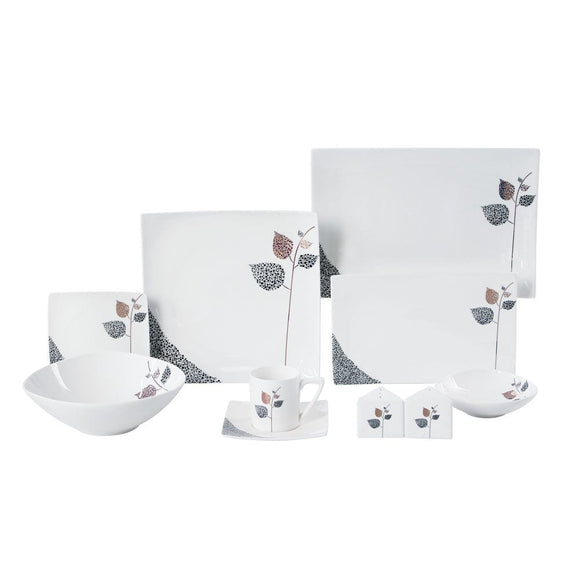 Danube Home Home & Kitchen Danube Home Oakland 47 Pcs Dinner Set Square (DB2013)