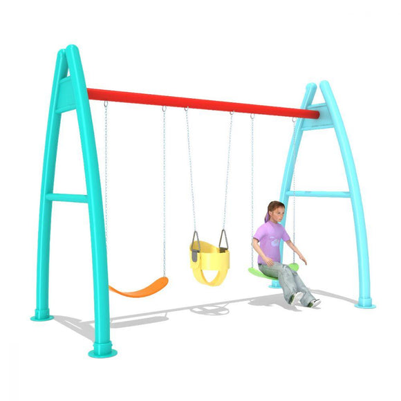 Danube Home Outdoor Alfa 3-Person Swing Play DBH-24