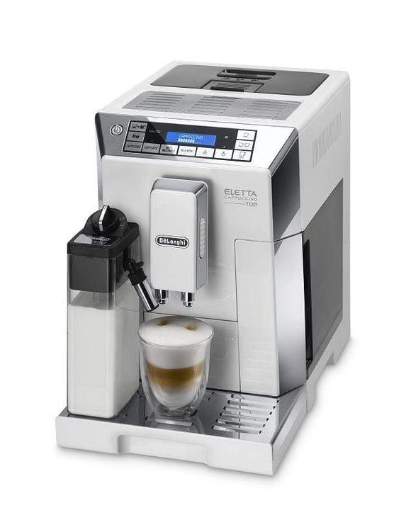 De'Longhi Appliances De'Longhi Eletta Cappuccino Top Cream Coffee Machine White ECAM45.760.W