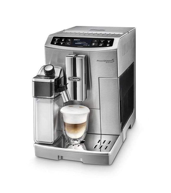 De'Longhi Appliances De'Longhi Primadonna S Evo Fully Automatic Coffee Machine Silver ECAM510.55.M