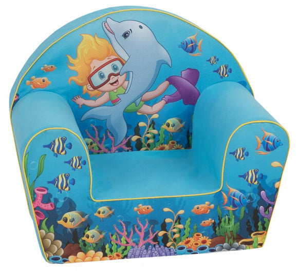 Delsit chair Delsit Arm Chair - Sea Fun Blue