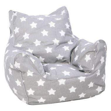 Delsit Toys Delsit - Bean Chair Grey with White Stars