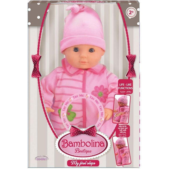 Dimian toys Bambolina Boutique My First Steps Baby Doll (33 cm)