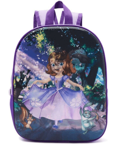 DISNEY Back to School 3D Cartoon Printed Kids Backpack 12 Liter, 13 Inch