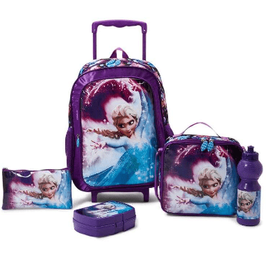 DISNEY Back to School 5-Piece Frozen Trolley Backpack Set