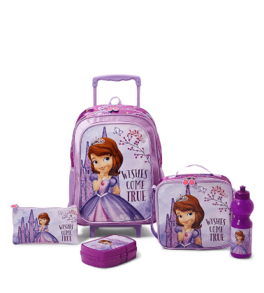 DISNEY Back to School 5 Piece Mystic Isles Trolley Bag Set